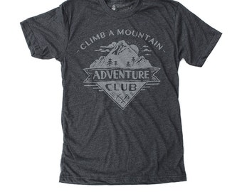 Mens Hiking Shirt, Camping Shirt, Hiking Shirt Graphic Tee - Adventure Club