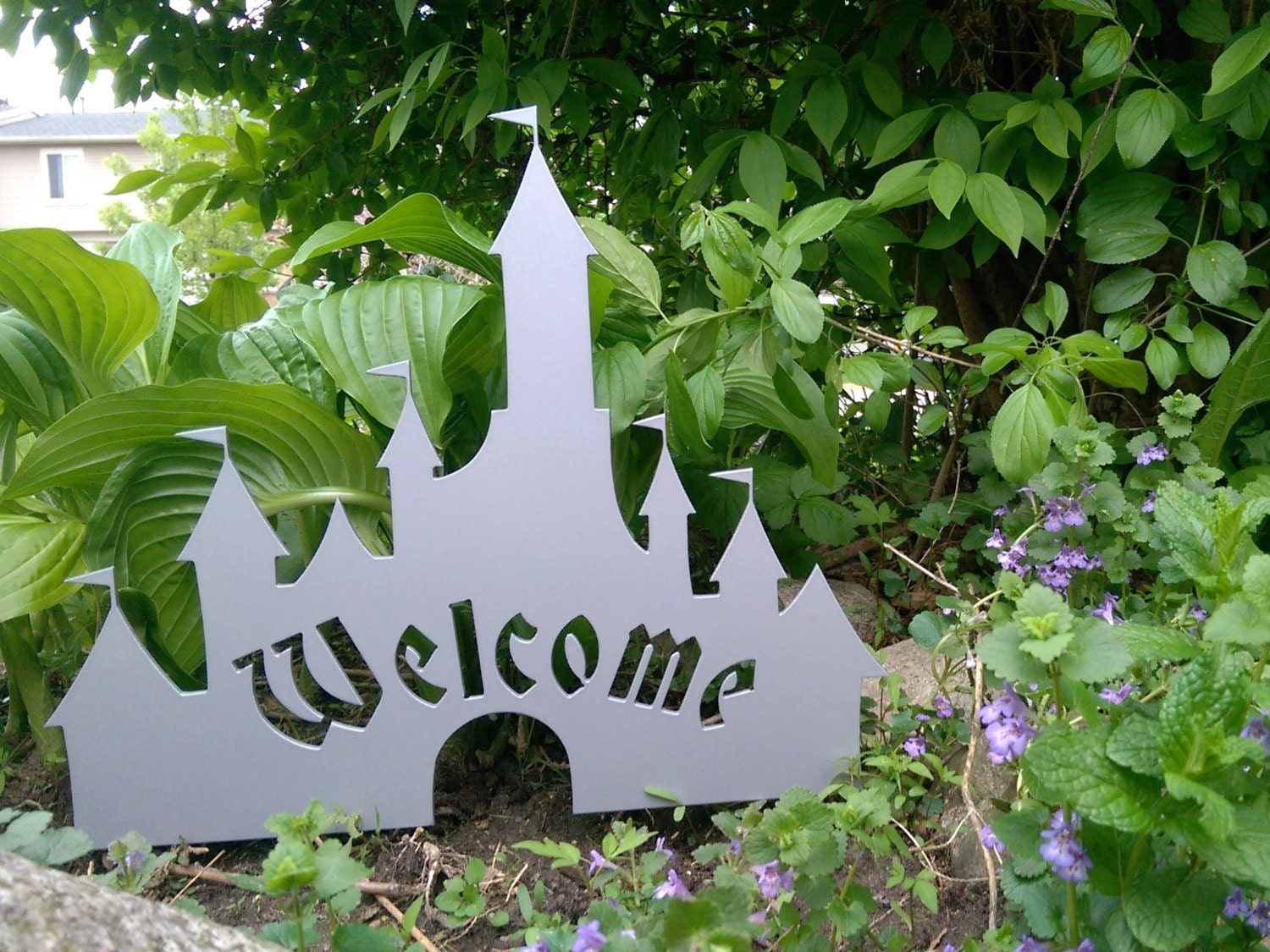 Disney Castle Inspired Welcome Sign Metal Art for Your