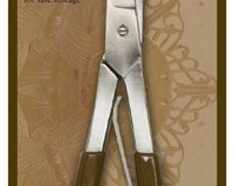 Vintaj Metal Shears Straight Blade 7 Inch Trim and Shape Soft Metals Create Blanks