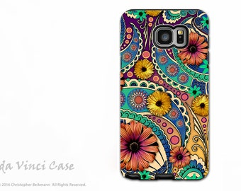 Paisley Floral Case for Samsung Galaxy Note 5 - Premium Dual Layer Case - Petals and Paisley - Colorful Daisy Art  by Da Vinci Case