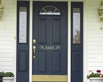 More Colors. House Numbers Decal   Front Door ...