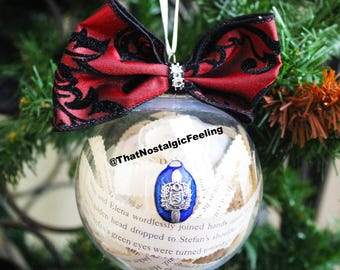 Stefan Salvatore • Ornament • The Vampire Diaries • Stelena • Stefan Pendant • Elena Gilbert • Bonnie • Xmas Gift • Christmas lights
