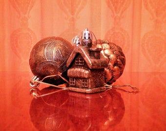 Christmas set of four items 1970,Home decor ornament.
