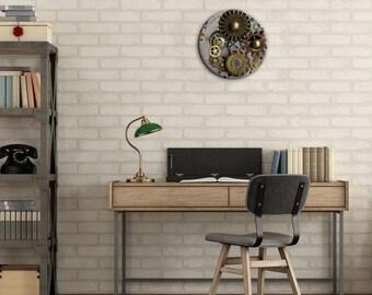 Dining Room Clock, Wall Clock, SteamPunk Decor, Steampunk, Gear Clock, Clock