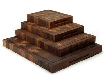 End Grain Walnut Cutting Board - TheKitchenBlock.com