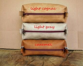 Shaving bag, Dopp kit, Personalized cosmetic bag, Vegan toiletry bag, Monogrammed gift, Groomsmen bag, Wedding bag, Makeup bag, Pencil case