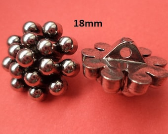 10 Knobs Silver 18 mm (4329) button