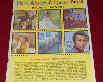 The Deluxe Herb Alpert & The Tijuana Brass Music Book-Containing 60 Great Songs