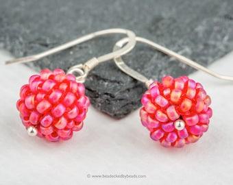 Beaded Bead Mini Earrings