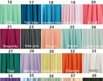 Bridesmaids dress infinity dress Color sample:Buy one, and then leave a message, you can get four swatch