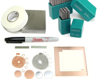 Metal Stamp Kit for Metal Stamping, Beginner Metal Stamp Kit (KIT01)