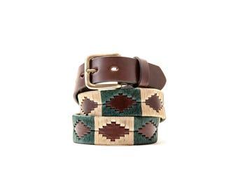 Gaucho belt , polo belt , leather belt , argentina belt, men gift, argentine tradition