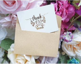 Mini Thank You Cards - Message cards, wedding cards, party cards, greeting cards, elegant cards - Set of 25