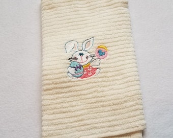 Easter Towel - Kitchen Towel - Dish Towel - Easter Dish Towel - Tea Towel - Easter Tea Towel - Hand Towel - Easter Hand Towel - Bunny Towel
