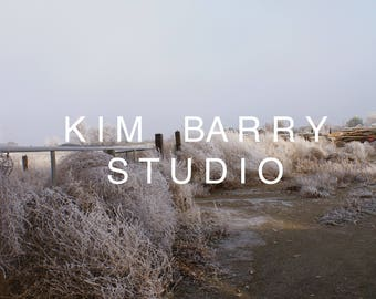 Original Photographic Print Frost Tumbleweeds  Nature Winter Landscape  Kim Barry Studio