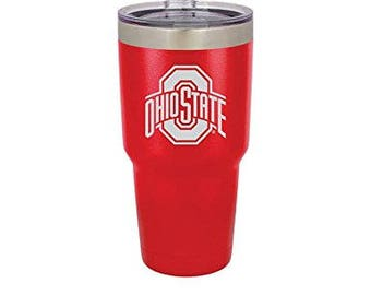 Ohio State Polar Camel 30 oz. OFFICIALLY LICENSED Red Vacuum Insulated Tumbler w/Clear Lid
