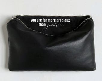 Secret Message Bag. You Are Far More Precious Than Jewels. Valentines Day Gift For Women. Galentines Day Gift For Her.
