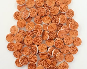 TOFFEE BROWN CIRCLE Ceramic Mosaic Tiles