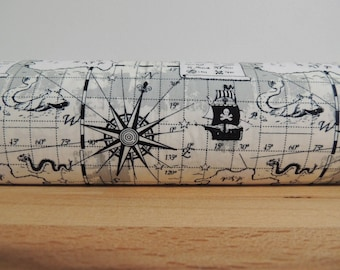 Door draft Stopper. Door or window snake. Draught excluder. House and home accessory.eco friendly energy saver. nautical print draft stopper