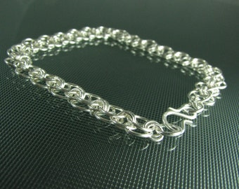 Sterling Silver Helm Chainmaille ANKLET
