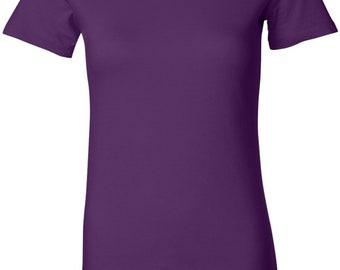 Ladies Bottom Patch Bottom Print Longer Length Tee T-Shirt BUTTERFLY-BO-6004