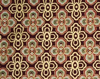 Scarlett and Gold Metallic Fabric, Hoffman Fabrics