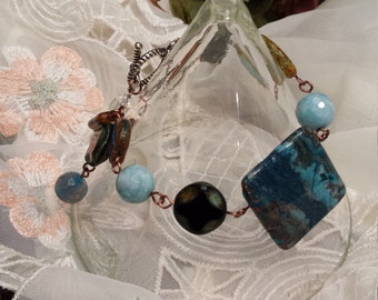 bracelet with assorted colors and stones