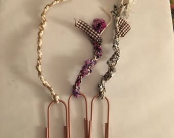 Dusty pink bookmarks