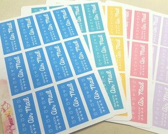 Cute Kawaii Bunny Air Mail Labels Airmail Snail Mail