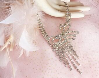 Rhinestone Necklace Glam
