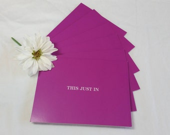 Purple Note Cards Set of 6 with Envelopes