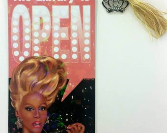 RuPaul's Drag Race Reading is Fundamental - Library is Open Bookmark