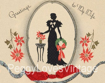 280 Vintage Christmas Greeting Card Images on CD Vol 8