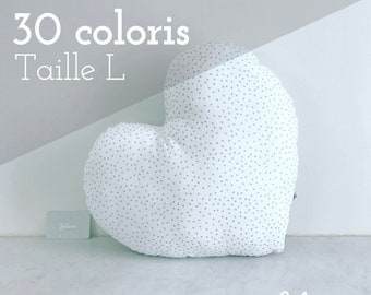 Heart cushion - size L - 30 colors to choose from-unique birthday gift