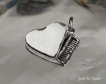 Sterling Silver Piano Charm Grand Pianos Music Pianist 3D Solid .925