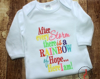Rainbow Baby - Rainbow Baby Dress, Rainbow Baby Outfit, Rainbow Child, Rainbow of Hope, Miracle Baby, After Every Storm, Angel Baby, Shower