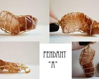 Red Calcite Pendant