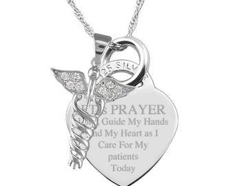 PT's Prayer Sterling Silver Heart Necklace Personalised/Engraved