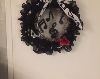 Music themed wreath