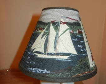 Clip-on Mini Shade - Nautical Theme - Shade ONLY