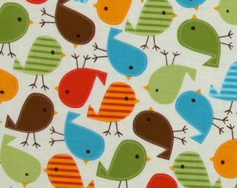 Birds patchwork Kaufman fabric