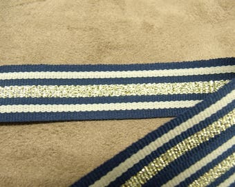 military Ribbon 2 cm - Blue & gold