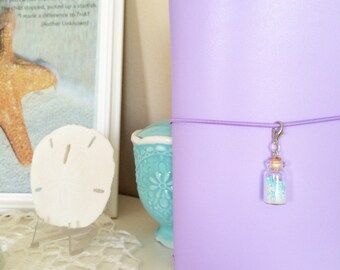 Travelers Notebook charms, Dori charms, planner accessories, planner, mini glass bottle charm