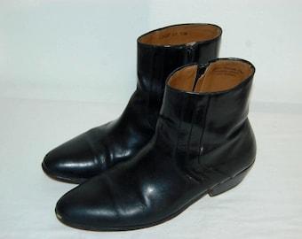 """Men Size 13 Vintage """"Stacy Adams"""" Black Leather Men's Dress Boots"""
