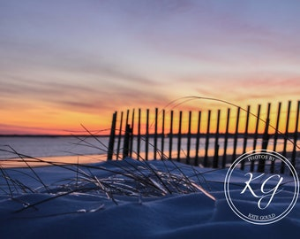 old orchard beach maine, sunset, digital photography