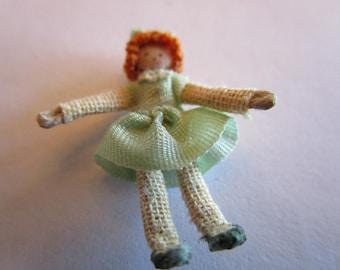 Miniature Dolls Doll, dollhouse miniature collectable.