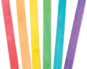 Colored Popsicle Sticks Darice 9150-82 Wood Craft Colored Sticks, 4-1/2-Inch, 120-Pack Wood Craft Sticks