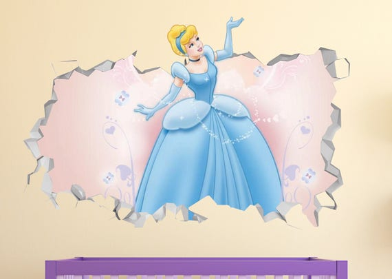 3D Princess Cinderella Smashed Art by LateralDecals