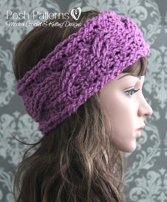 CROCHET PATTERN - Crochet Headband Pattern, Crochet Ear Warmer ...