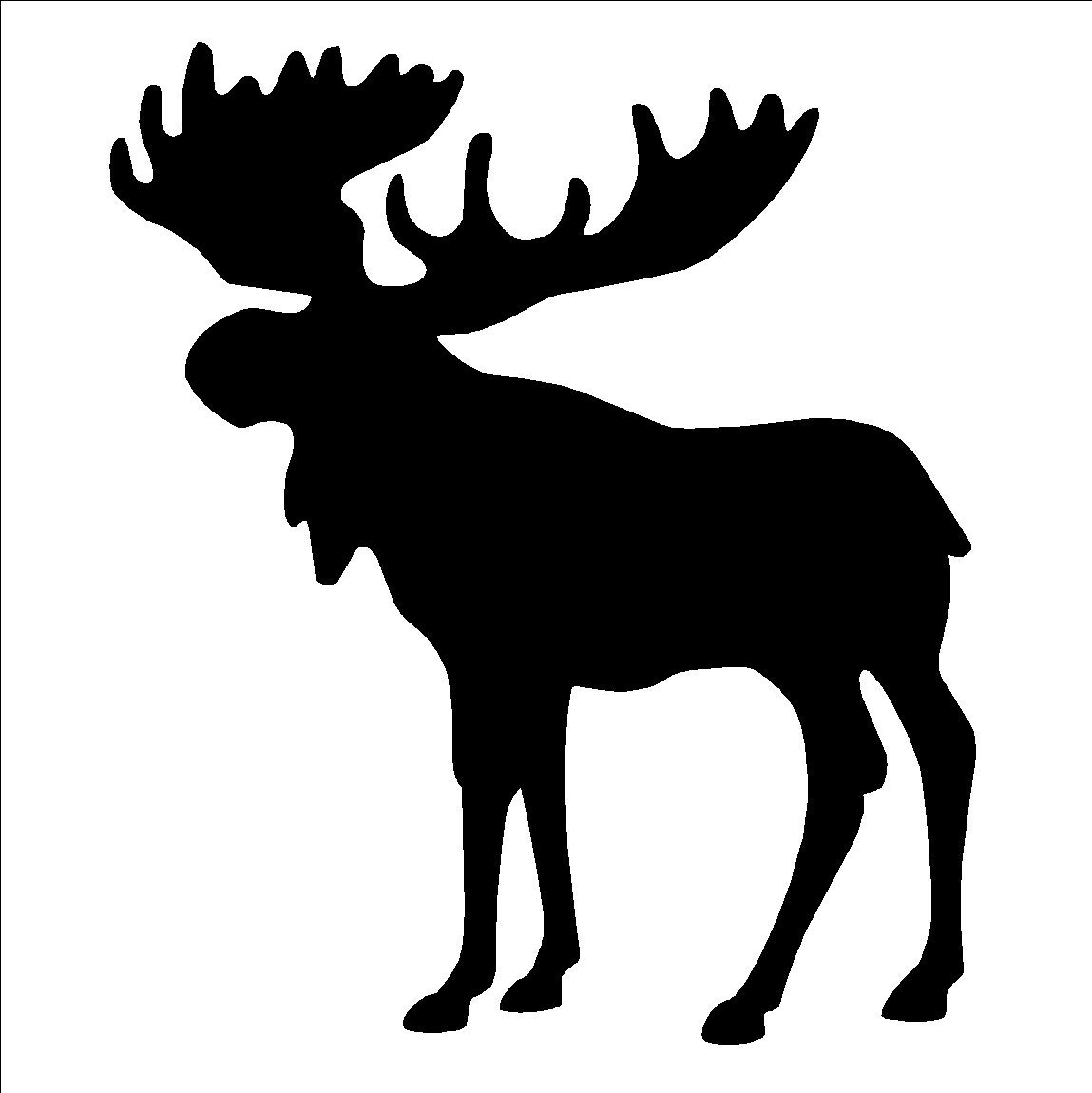 moose silhouettes moose silhouette stencil or self adhesive decal 9 5 x 11 1249